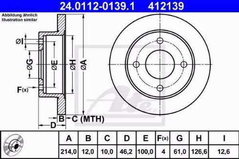 ATE 24.0112-0139.1 - Bremžu diski interparts.lv