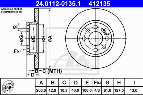 ATE 24.0112-0135.1 - Bremžu diski interparts.lv