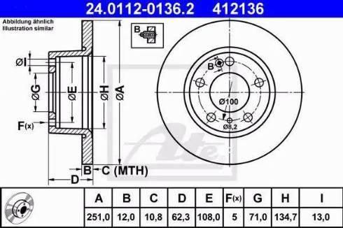 ATE 24.0112-0136.2 - Bremžu diski interparts.lv