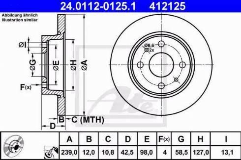 ATE 24.0112-0125.1 - Bremžu diski interparts.lv
