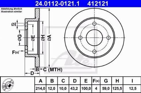 ATE 24.0112-0121.1 - Bremžu diski interparts.lv