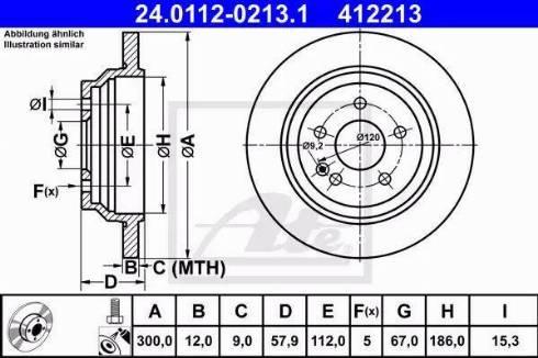 ATE 24.0112-0213.1 - Bremžu diski interparts.lv