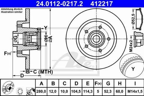 ATE 24.0112-0217.2 - Bremžu diski interparts.lv