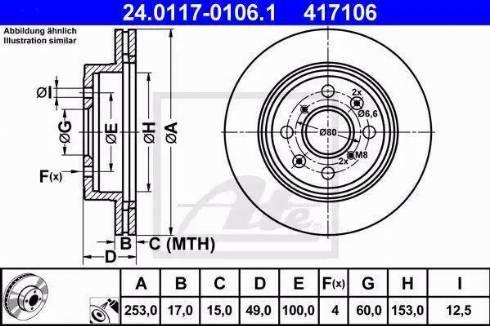 ATE 24.0117-0106.1 - Bremžu diski interparts.lv