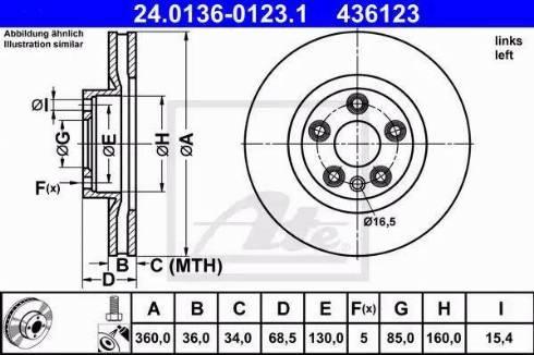 ATE 24.0136-0123.1 - Bremžu diski interparts.lv