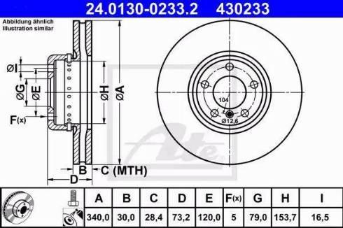 ATE 24.0130-0233.2 - Bremžu diski interparts.lv