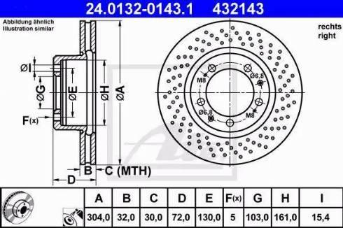 ATE 24.0132-0143.1 - Bremžu diski interparts.lv