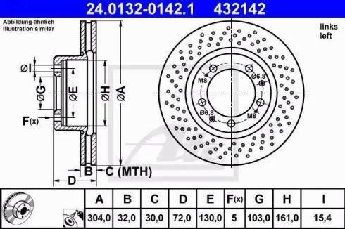 ATE 24.0132-0142.1 - Bremžu diski interparts.lv