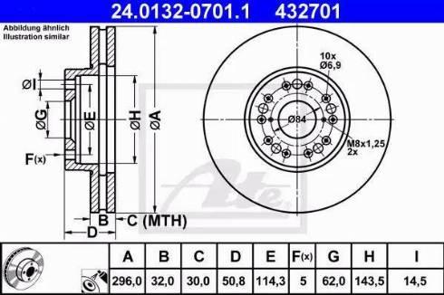 ATE 24.0132-0701.1 - Bremžu diski interparts.lv