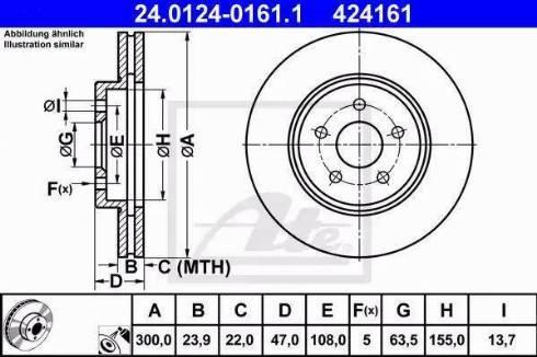 ATE 24.0124-0161.1 - Bremžu diski interparts.lv