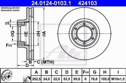 ATE 24.0124-0103.1 - Bremžu diski interparts.lv