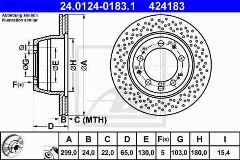 ATE 24.0124-0183.1 - Bremžu diski interparts.lv