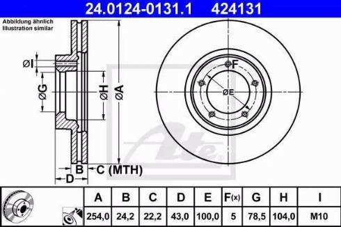 ATE 24.0124-0131.1 - Bremžu diski interparts.lv