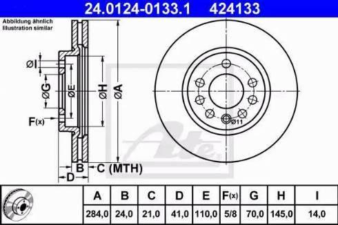 ATE 24.0124-0133.1 - Bremžu diski interparts.lv