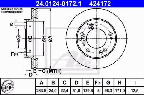 ATE 24.0124-0172.1 - Bremžu diski interparts.lv