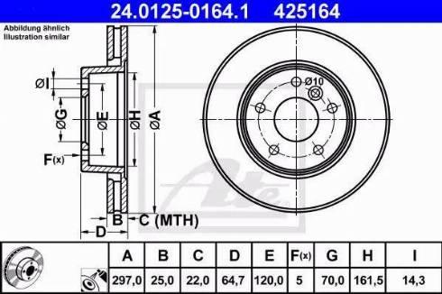 ATE 24.0125-0164.1 - Bremžu diski interparts.lv