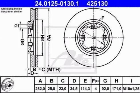 ATE 24.0125-0130.1 - Bremžu diski interparts.lv