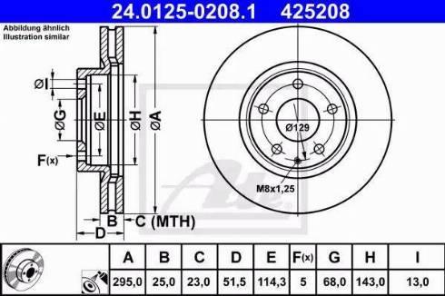 ATE 24.0125-0208.1 - Bremžu diski interparts.lv