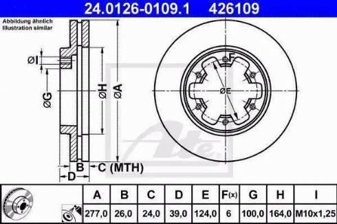 ATE 24.0126-0109.1 - Bremžu diski interparts.lv