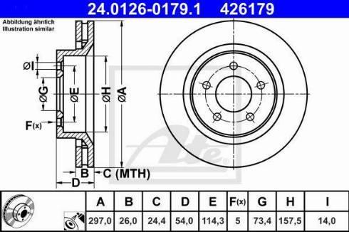ATE 24.0126-0179.1 - Bremžu diski interparts.lv