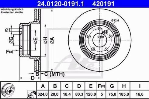 ATE 24.0120-0191.1 - Bremžu diski interparts.lv