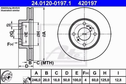 ATE 24.0120-0197.1 - Bremžu diski interparts.lv