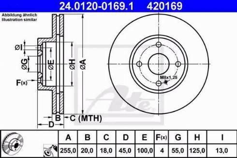 ATE 24.0120-0169.1 - Bremžu diski interparts.lv