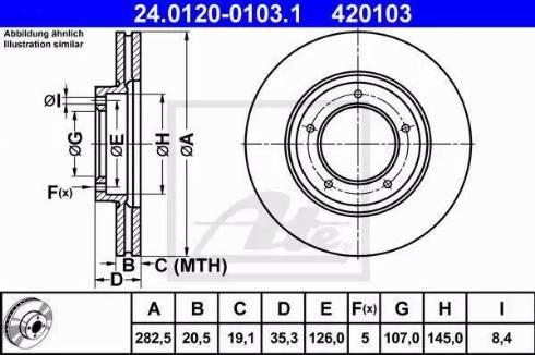 ATE 24.0120-0103.1 - Bremžu diski interparts.lv