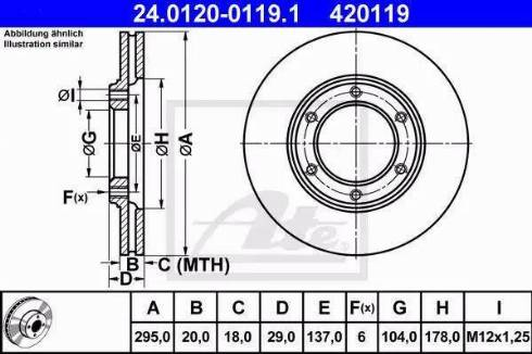 ATE 24.0120-0119.1 - Bremžu diski interparts.lv
