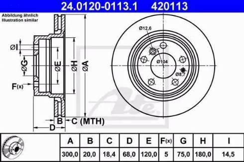 ATE 24.0120-0113.1 - Bremžu diski interparts.lv