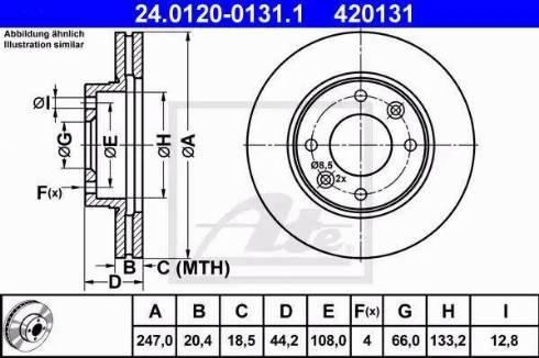 ATE 24.0120-0131.1 - Bremžu diski interparts.lv