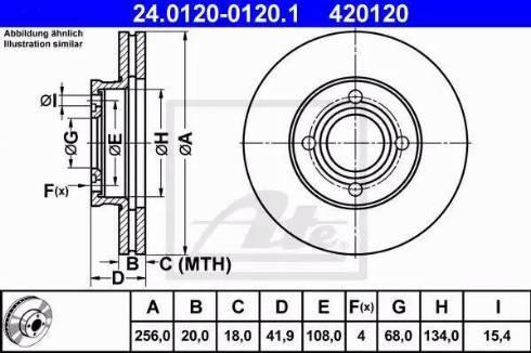 ATE 24.0120-0120.1 - Bremžu diski interparts.lv