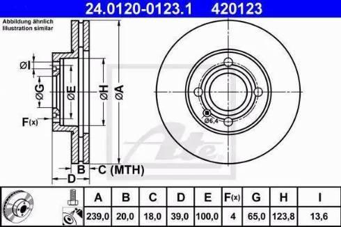 ATE 24.0120-0123.1 - Bremžu diski interparts.lv