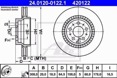 ATE 24.0120-0122.1 - Bremžu diski interparts.lv