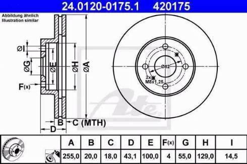 ATE 24.0120-0175.1 - Bremžu diski interparts.lv
