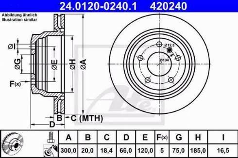 ATE 24.0120-0240.1 - Bremžu diski interparts.lv