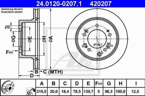 ATE 24.0120-0207.1 - Bremžu diski interparts.lv