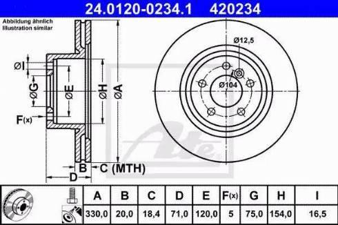 ATE 24.0120-0234.1 - Bremžu diski interparts.lv