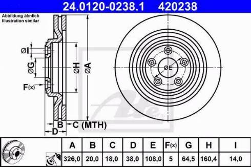 ATE 24.0120-0238.1 - Bremžu diski interparts.lv
