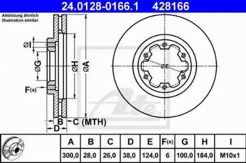 ATE 24.0128-0166.1 - Bremžu diski interparts.lv
