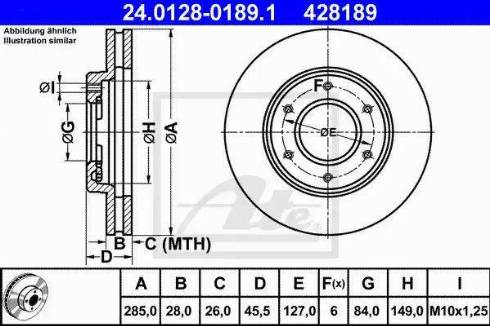 ATE 24.0128-0189.1 - Bremžu diski interparts.lv