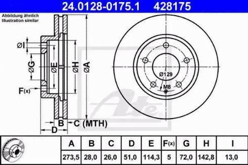 ATE 24.0128-0175.1 - Bremžu diski interparts.lv