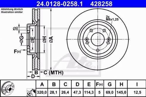 ATE 24.0128-0258.1 - Bremžu diski interparts.lv