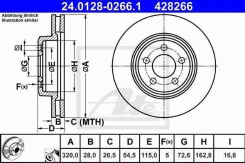 ATE 24.0128-0266.1 - Bremžu diski interparts.lv