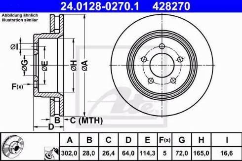 ATE 24.0128-0270.1 - Bremžu diski interparts.lv