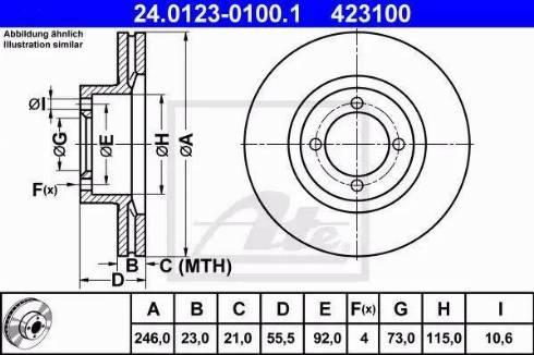 ATE 24.0123-0100.1 - Bremžu diski interparts.lv