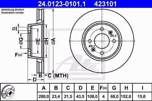 ATE 24.0123-0101.1 - Bremžu diski interparts.lv