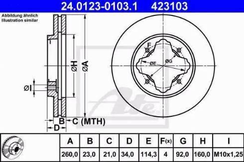 ATE 24.0123-0103.1 - Bremžu diski interparts.lv