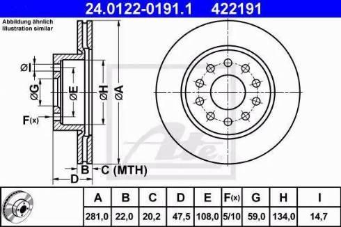 ATE 24.0122-0191.1 - Bremžu diski interparts.lv