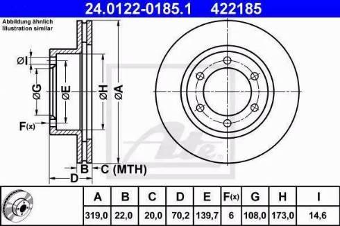 ATE 24.0122-0185.1 - Bremžu diski interparts.lv